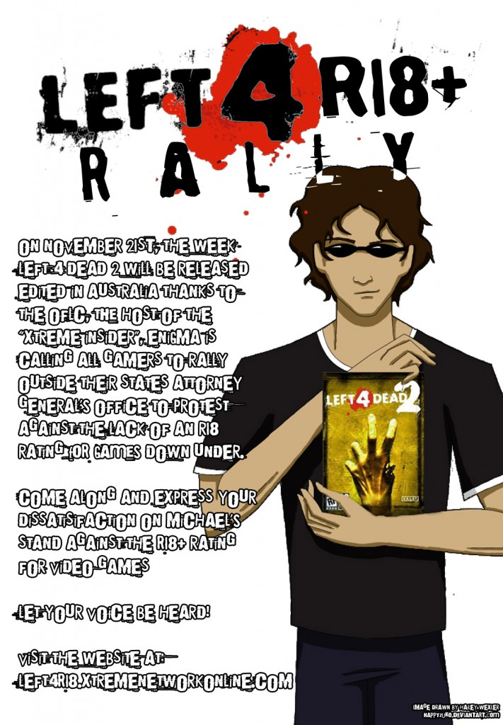Left 4 R18+ Rally Poster